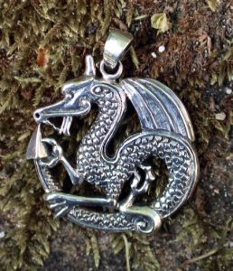 Drachen Silber Anhänger
