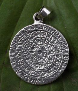 Massiver Silber Anhänger Keilschrift Symbolik