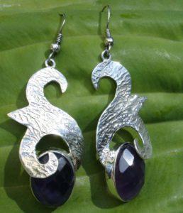 Silber Ohrringe mit Amethyst
