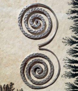 Spirale Silber Ohrringe aus Chiang Mai