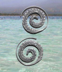 Spirale Ohrringe aus Chiang Mai