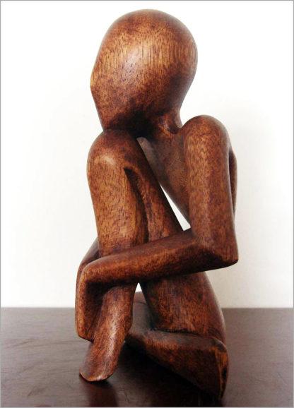 Holzfigur aus Bali