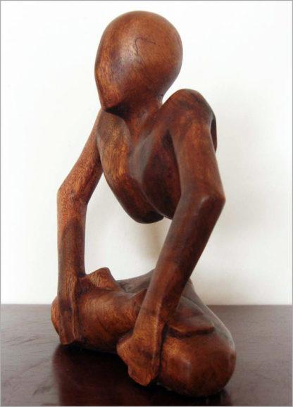 Handgeschnitzte Holzfigur aus Bali - Online Shop