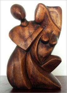 Abstrakte Holzfigur aus Bali - Online Shop