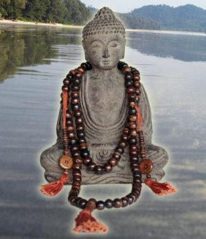 Bone Mala mit Zähler - Ganesha Online Shop