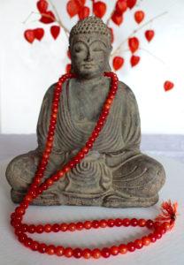 Mala aus roten Karneol - Ganesha Online Shop