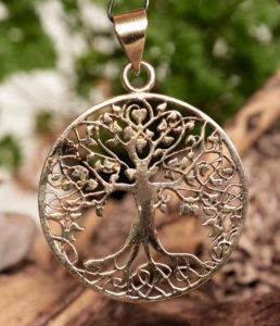Lebensbaum Messing Anhänger im Ganesha Online Shop
