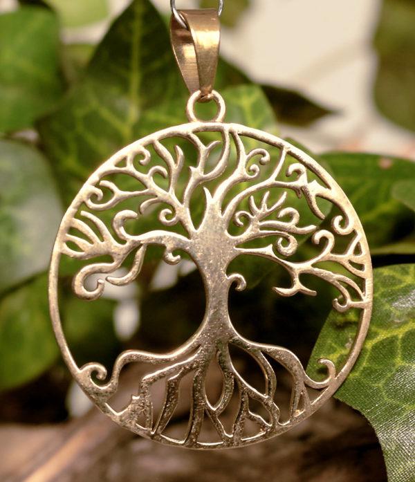 Lebensbaum Messing Anhänger aus Indien kaufen