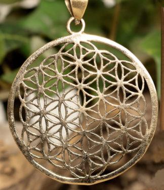 Blume des Lebens Messing Anhänger im Ganesha Online Shop kaufen