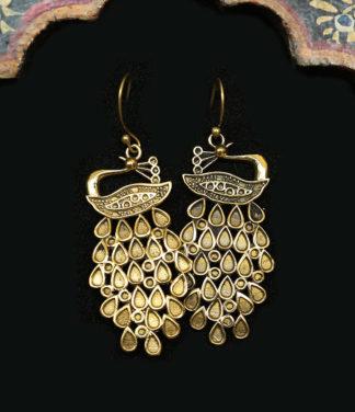 Pfau Ohrringe aus Messing im Ganesha Online Shop kaufen