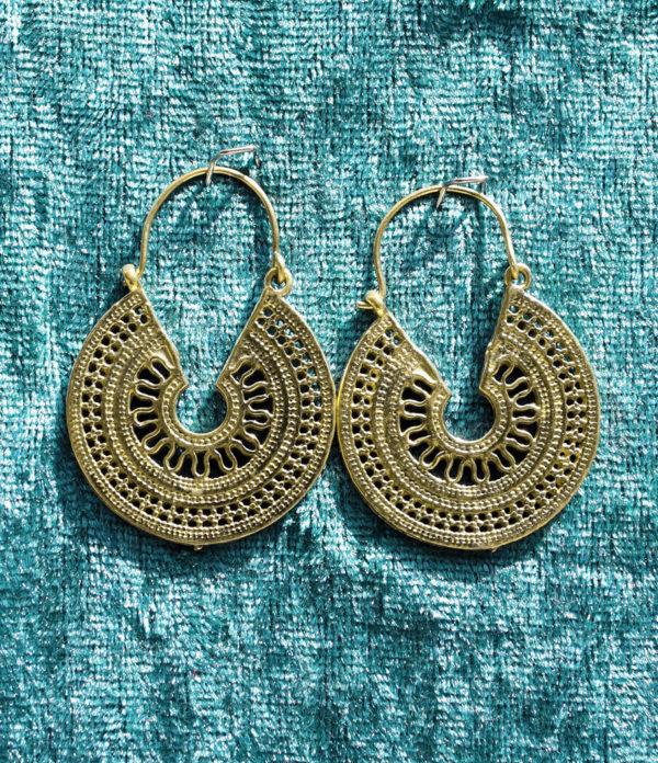 Messing Ohrringe aus Indien im Ganesha Online Shop