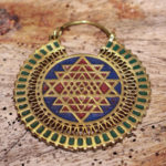 Shri Yantra Messing Ohrringe reduziert im Ganesha Online Shop