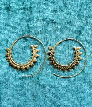 Messing Spiralen Ohrringe aus Indien im Online Shop kaufen