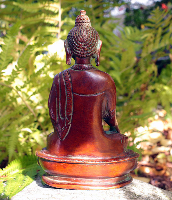 Buddha Messing Statue-Rückseite