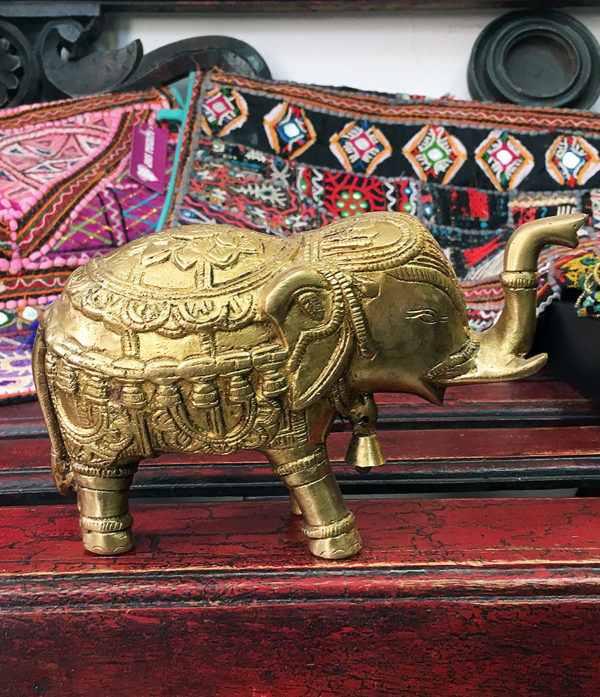 Elefant Messing Statue - Ganesha Shop