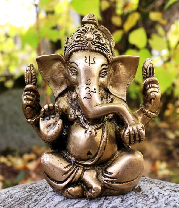 Ganesha Messing Statue aus Indien - Online Shop