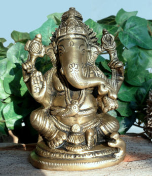 Ganesha Figur aus Messing im Ganesha Online Shop