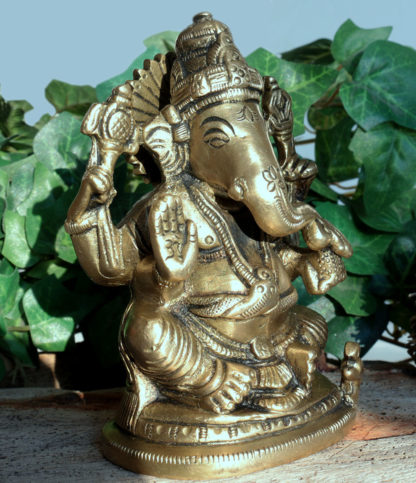 Ganesha Figur aus Messing