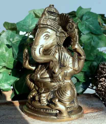 Ganesha Figur aus Messing Indien im Ganesha Online Shop