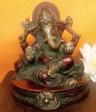 Ganesha Figur aus Messing im Online Shop