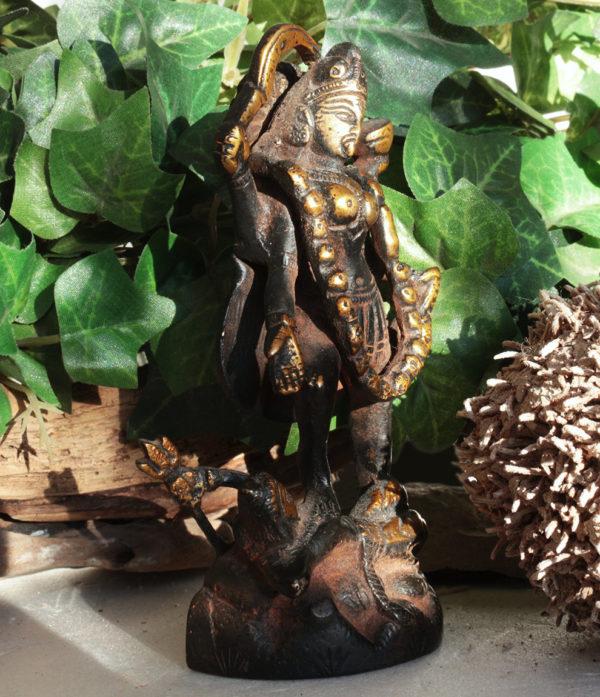 Kali Messing Statue handarbeit aus Indien
