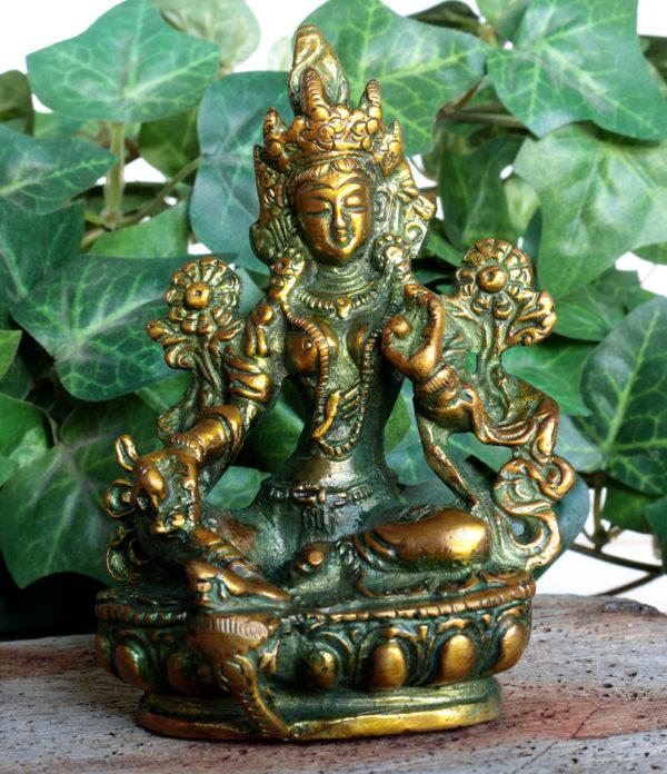 Grüne Tara Messing Statue im Ganesha Online Shop kaufen