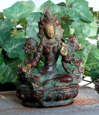 Grüne Tara aus Messing im Ganesha Online Shop kaufen
