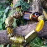 Armband mit Glas und Messing Perlen im Ganesha Shop
