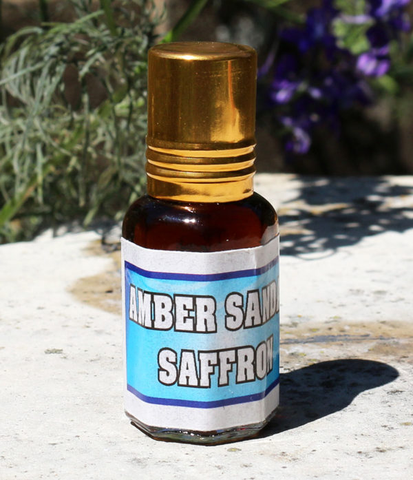 Amber-Sandelholz-Safran Parfum aus Pushkar Indien