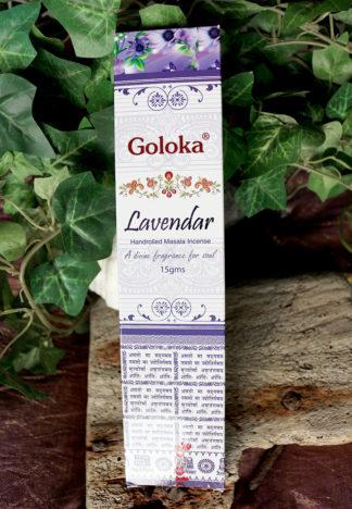 Lavendel Räucherstäbchen von Goloka im Ganesha Shop