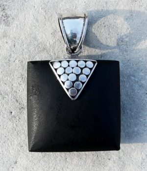Lavastein Silber Anhänger