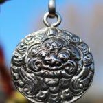 Drachengesicht Silber Anhänger