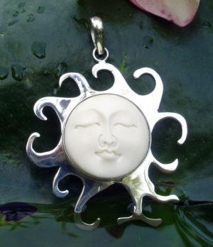 Sonnen Silber Anhänger