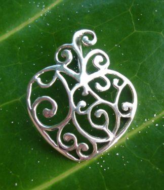Silber Anhänger in Herz Form