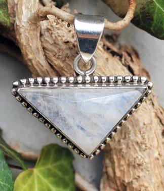 Silber Anhänger mit Mondstein