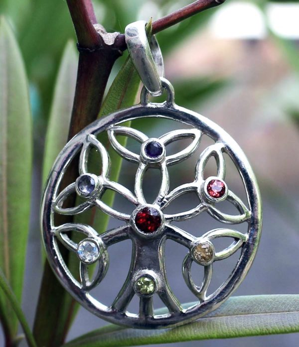 Lebensbaum Silber Anhänger