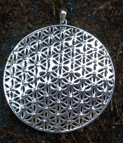 Silber Anhänger Blume des Lebens