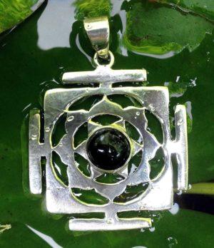 Shri Yantra Silber Anhänger