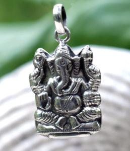 Ganesha Silberanhänger aus Indien im Online Shop
