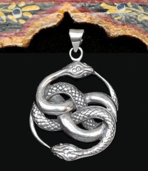 Schlangen Anhänger in Silber