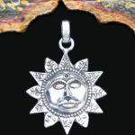 Sonne Silberanhänger im Ganesha Online Shop kaufen