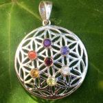 Blume des Lebens Chakra Anhänger im Ganesha Online Shop