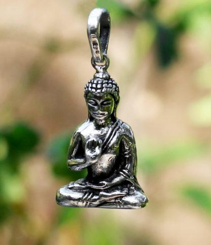 Buddha Silberanhänger im Ganesha Online Shop