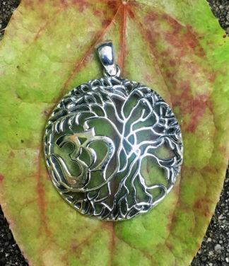 Silber Anhänger Lebensbaum mit OM im Ganesha Online Shop