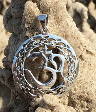 OM Silberanhänger aus Indien in 925 Sterling Silber
