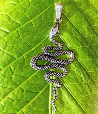 Schlange Silber Anhänger im Ganesha Online Shop