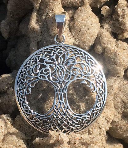 Großer Lebensbaum Silber Anhänger