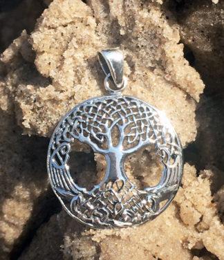 Kleiner Lebensbaum Silber Anhänger im Ganesha Online Shop