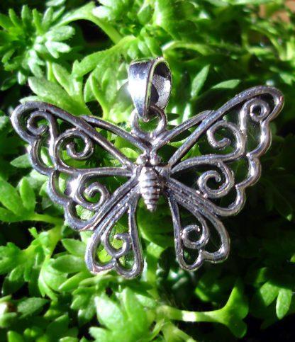 Schmetterling Silber Anhänger
