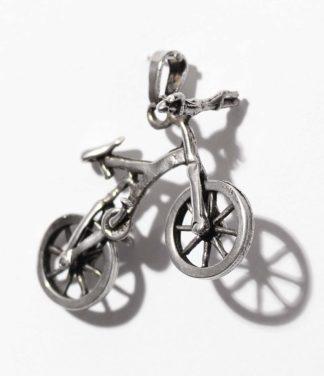 Mountain Bike Silber Anhänger